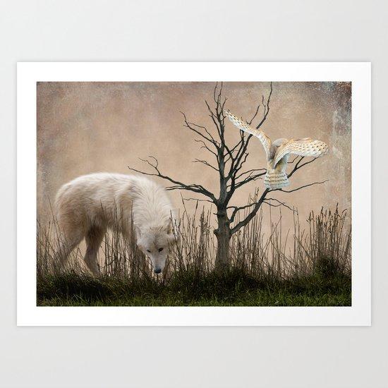 Woodland Wolf Art Print