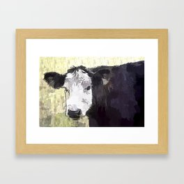 Handsome Heifer Framed Art Print