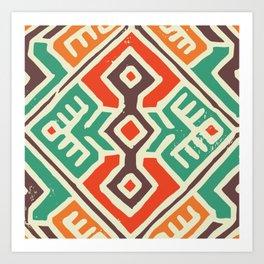 Ancient totem pattern Art Print
