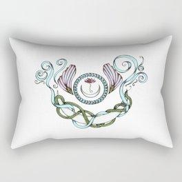 Snake Moon in Pastel Rectangular Pillow