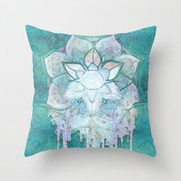 Turq Mandala Throw Pillow