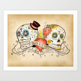 Death Do Us Part Art Print