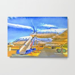 Pop Art Airliner Metal Print