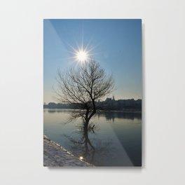 Sun over Vistula Metal Print