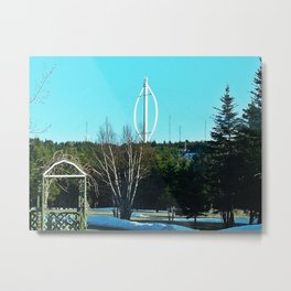 Vertical Wind Turbine Metal Print