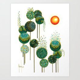 Bosque de Abedules Art Print