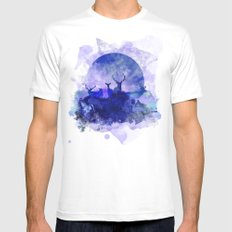 Dusk MEDIUM White Mens Fitted Tee