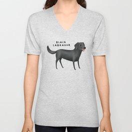 Black Labrador Unisex V-Neck