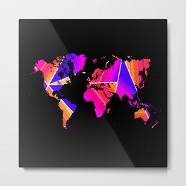 Reflections world map Metal Print