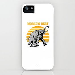 ElephAunt Elephant Elephantidae Mammal Wildlife Mammoth Tusks Trunk Gift iPhone Case