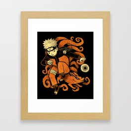 nine tails. Framed Art Print