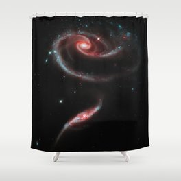 Rose of Galaxies Shower Curtain