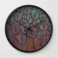 Feather Detail Wall Clock