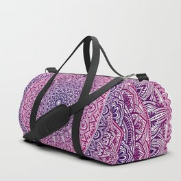 Zen Pink and Purple Mandala Duffle Bag