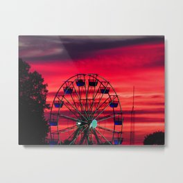 ride into the sunset Metal Print