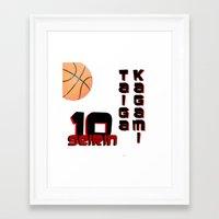 kuroko Framed Art Prints featuring Kagami taiga by Selis Starlight