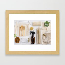 zero waste cleaning and beauty products Framed Art Print