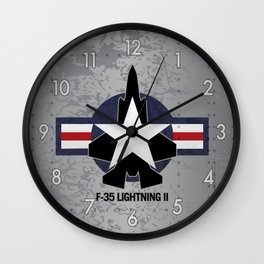 F35 Fighter Jet Airplane - F-35 Lightning II Wall Clock