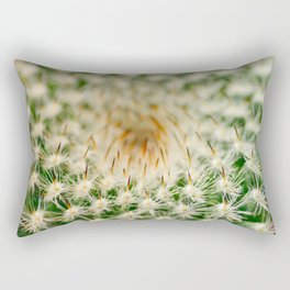 Cactus close-up shot, natural abstract background Rectangular Pillow