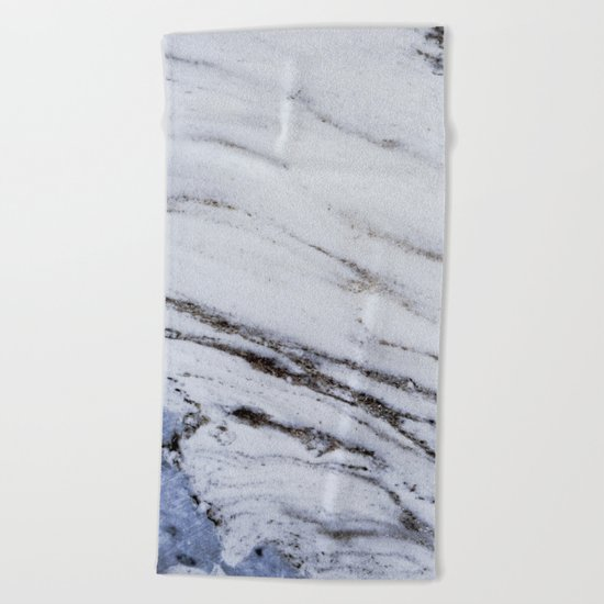 White Marble with Blue Beach Towel