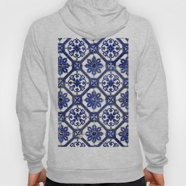 Blue and White Portuguese Tile - Hoody