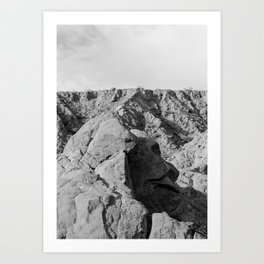 Face in the rocks Art Print