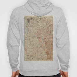 Vintage Burlington Vermont Topographic Map (1904) Hoody