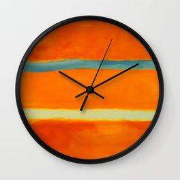 orange blue Wall Clock