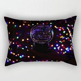 Christmas Light Reflection Rectangular Pillow