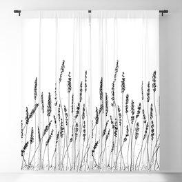 Lavender Flowers Illustration Blackout Curtain