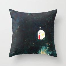 Church on Dark Throw Pillow