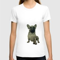 frenchie T-shirts featuring Frenchie by Mi Nu Ra