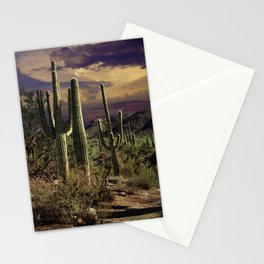 Saguaro Cactuses in Saguaro National Park Stationery Cards