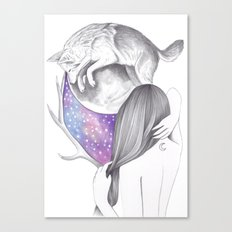 Two Moons Canvas Print