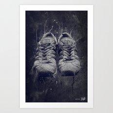 DARK SHOES Art Print