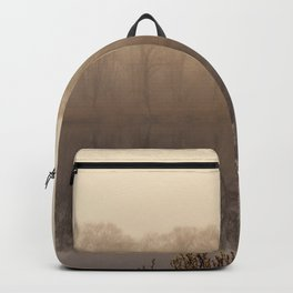 Foggy springtime Reflections Backpack