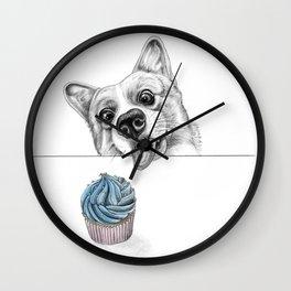 Cheeky Corgi Wall Clock