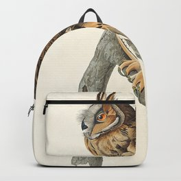 Long-eared Owl from Birds of America (1827) by John James Audubon etched by William Home Lizars Backpack