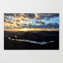 Looking Down at Lakeside - Windermere Canvas Print