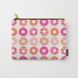 Half Dozen Donuts – Pink & Peach Ombré Carry-All Pouch
