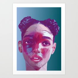 FKA Twigs Low Poly Collection Art Print