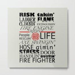 Risk Takin' Metal Print