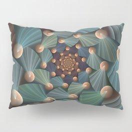 Graphic Design, Modern Fractal Art Pattern Pillow Sham