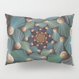 Graphic Design, Modern Fractal Art Pattern Pillow Sham