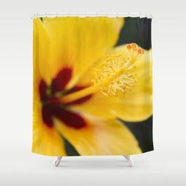 Boreas Tropical Hibiscus Lemon Drop Shower Curtain