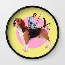 Twiggy and the Pups | Beagle Wall Clock