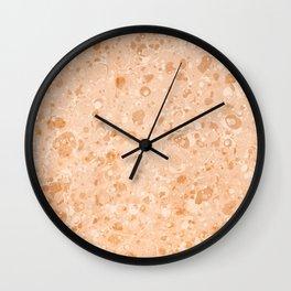 Vintage Organic Paper Texture Wall Clock