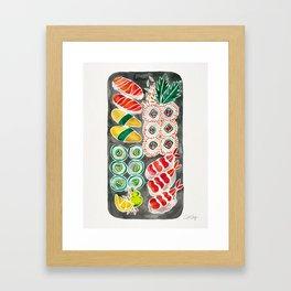 Sushi Collection – Black Platter Framed Art Print