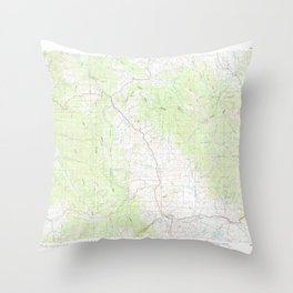 CO Steamboat Springs 403058 1980 100000 geo Throw Pillow