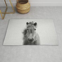 Wild Horse - Black & White Rug